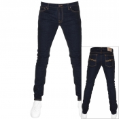 Product Image for Nudie Jeans Skinny Lin Jeans Dry Deep Blue
